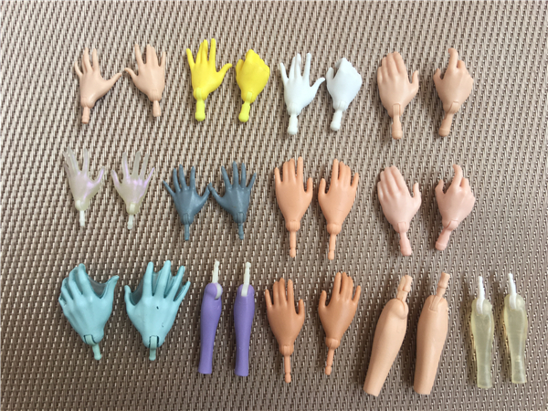 New Original Replacement Doll Hands Monstering High Doll Toy Parts Black Gray Yellow Blue Fishman Doll Hands DIY Toy Accessories