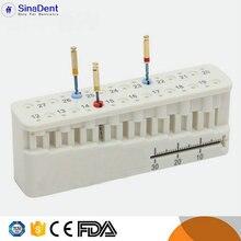 цена на Endo Block Mini Endo Block Endodontics Stand Dental Measuring Tools for Root Working Length Autoclavable Endo File Organizer