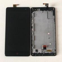 Cho ZTE Nubia Z7 Max NX505J Axisinternational Màn Hình LCD Hiển Thị Màn Hình + Cảm Ứng Bộ Số Hóa Có Khung Cho ZTE Z7 Max màn Hình Cảm Ứng