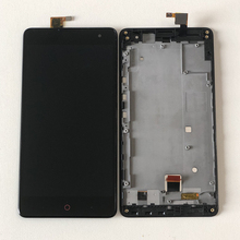 Für ZTE Nubia Z7 Max NX505J Axisinternational LCD Display Bildschirm + Touch Panel Digitizer Mit Rahmen Für ZTE Z7 Max touchscreen