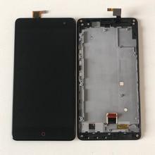ZTE Nubia Z7 Max NX505J 용 Axisinternational LCD 디스플레이 화면 + ZTE Z7 Max 터치 스크린 용 프레임이있는 터치 패널 디지타이저