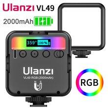 Ulanzi vl49 mini rgb iluminação de luz de vídeo para a fotografia 2000mah rgb conduziu a luz da câmera de vídeo vlog luz de preenchimento ao vivo