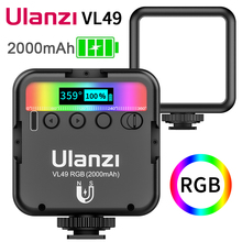 Ulanzi VL49 Mini RGB Video Light Lighting for Photography 2000mAh RGB LED Video Camera Light Vlog Fill Light Live