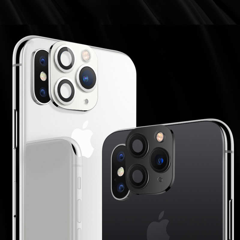 For iPhone X XS MAX Seconds Change For iPhone 11 Pro Max Tempered Glass Metal Case Camera Lens Protector Ring Cover