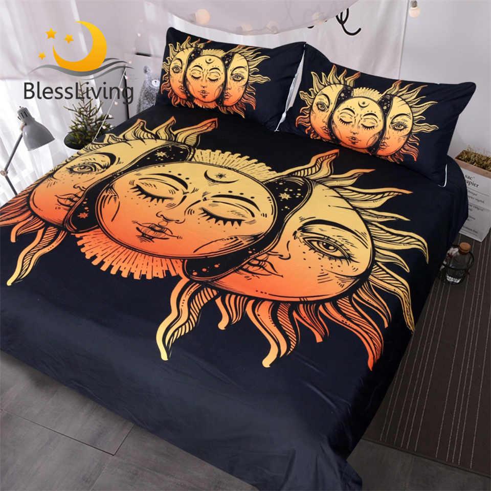 Blesslive полумесяц комплект постельного белья звезды Небесный пододеяльник набор