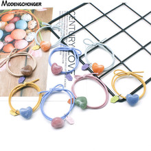 New Simple Hair Ring Heart-shaped Elastic Hair Bands Hair Rope For  Girls Headband Hair Scrunchie Rubber Hair Tie  Accessories
