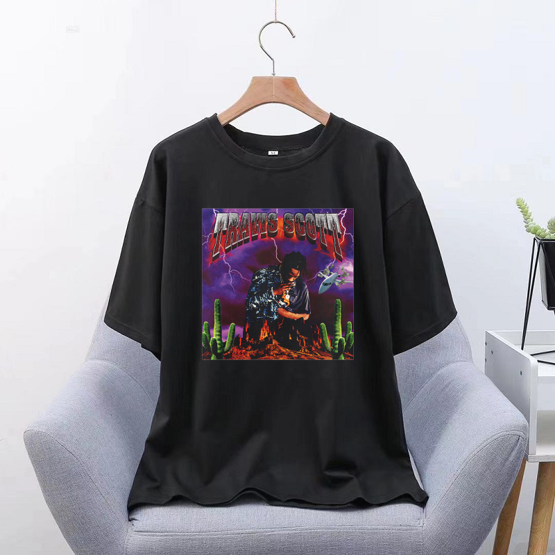 Travis Scott Hot Sauce Women Short Sleeve Graphic Tees Tops Vintage T-Shirts Vincent Aesthetic Tshirts Men Harajuku