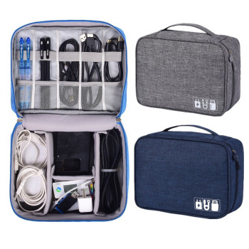 Travel bag portable digital USB gadget set charger line cosmetic storage - discount item  30% OFF Travel Bags