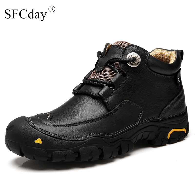 New 2019 Men Casual Shoes Mens Working Shoes Fashion Brand Design Outdoor Leisure Shoes Big Size Leather Shoes Men
