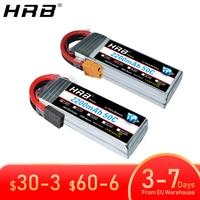 2 uds HRB 2S 3S 4S 5S 6S Lipo batería 7,4 V 11,1 V 14,8 V 22,2 V 2000mah 5000mah 6000mah 1500mah RC avión FPV Drone piezas de coche