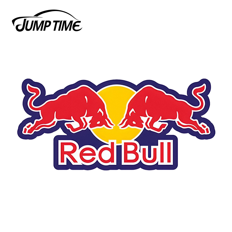 JumpTime 13cm X 6cm For RED Of Bull Funny Car Stickers Motorcycle JDM Bumper Window Decals  Car Accessories Vinyl Car Wrap