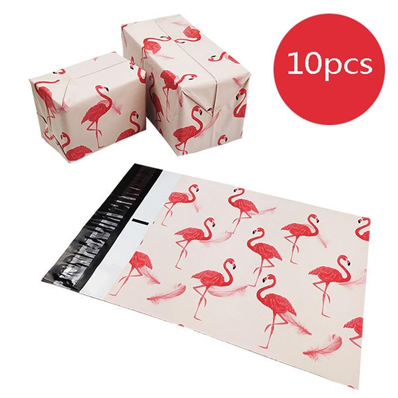 Nieuwe Dikker Koerier Zak Flamingo Kleding Tassen Cartoon Anime Poly Mailers Self Seal Plastic Mailing Envelop Tas10PCS