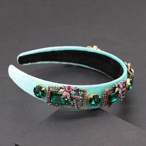 Image 3 - Stylish and beautiful rhinestone geometric exaggerated headband Fine fashion rhinestone geometric headband  680
