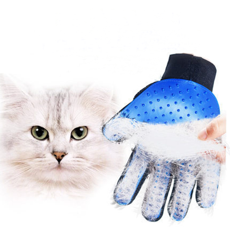 Soft Silicone Dog Cat Pet brush Glove Cat cleaning Gentle Efficient Cat Grooming Glove Dog Bath Supplies Pet Glove combs(China)