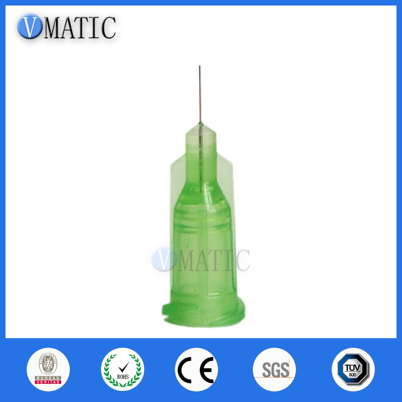 Free Shipping 100 Pcs Non Sterilized 34G 0.25'' Dispense Syringe Needle Tip / Glue Dispensing Needle Tip 1/4 Inch