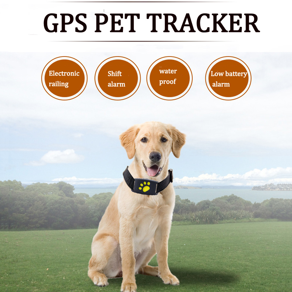 Mini Pet GPS Tracker Dog Cat Collar Water-Resistant GPS Callback Function USB Charging GPS Trackers Dogs Cats Supplies