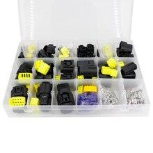 Conector de cabo de fio eletrônico para carro, vedação à prova dágua e vedação de 1.8mm, 1 caixa de 24 conjuntos