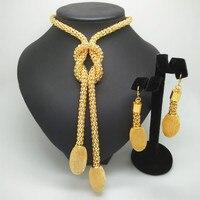 Kingdom Ma Wholesale Nigerian Wedding African Beads Crystal Bridal Jewellery Set Dubai Gold Jewelry Sets