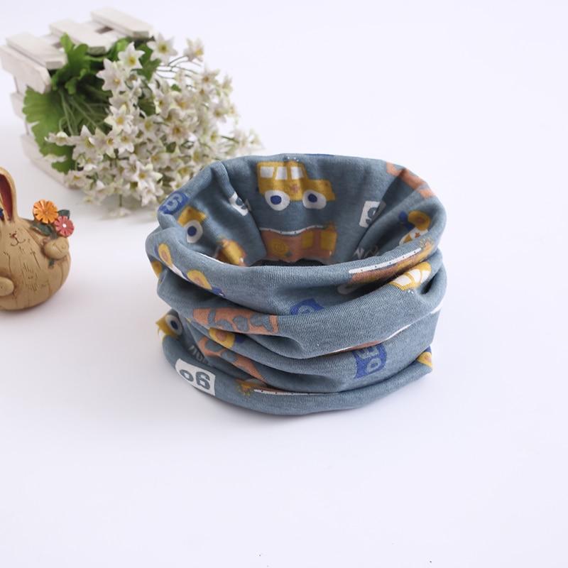 Детский хлопковый шейный шарф с милым принтом; детский теплый шарф; Детские воротники; осенне-зимний шарф-кольцо для мальчиков и девочек; аксессуары для детской одежды - Цвет: car