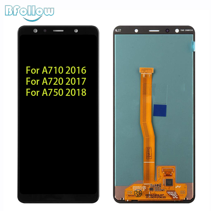 BFOLLOW Screen Replacement For <font><b>Samsung</b></font> Galaxy A710 2016 <font><b>A720</b></font> 2017 A750 2018 Display Assembly Digitizer image