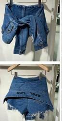Женские потертые джинсовые шорты с высокой талией, женские повседневные брюки с длинным рукавом A2