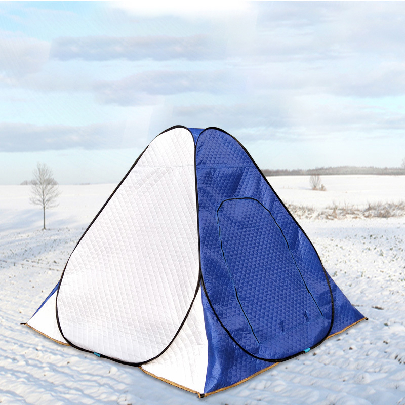 Outdoor Hiking Winter Ice Fishing Cotton Tents Winter Tent Thick Quilted Warm Hiking Tent Fishing Cold Winter Camp Fishing Tent
