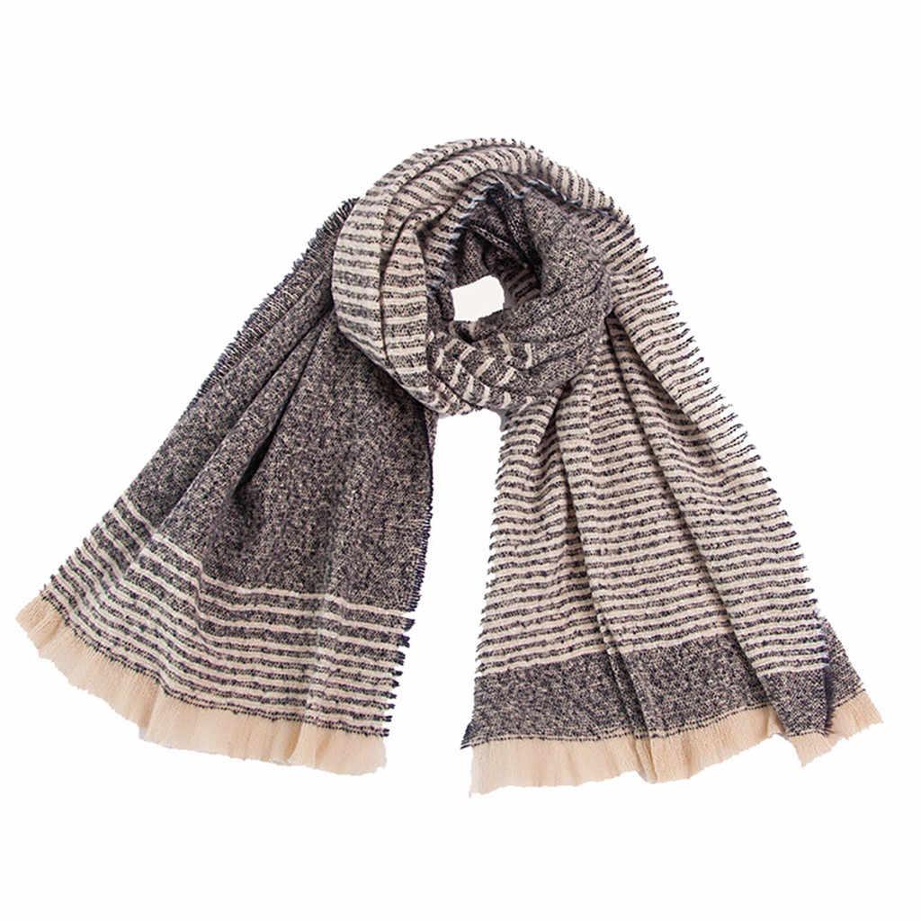 #35 шарфы палантины шарф женские зимние модные женские классические шарфы в клетку с кисточками теплые петли воротник обертывание шаль шарфы
