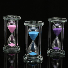 Creative Glass Hourglasses Sandglass Timer Children Time Toys Gift Home Decoration 15 Minutes Hourglass Household Ornaments