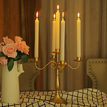 1 Pc Vintage Metal Romantic Dinner Candle Holders Antique Retro Gold Candlesticks Large Tall Bronze Silver Wedding Candelabr
