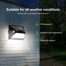 Luces solares al aire libre Sensor de movimiento PIR lámpara de pared LED Inductor doble PIR 7 cambios de Color 3 modos de decoración de jardín/ luz de seguridad(China)