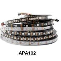 1 м/3 м/5 м APA102 умная светодиодная Пиксельная полоса 30/60/144 светодиодов/пикселей/м, IP30/IP65/IP67 данные и часы отдельно DC5V