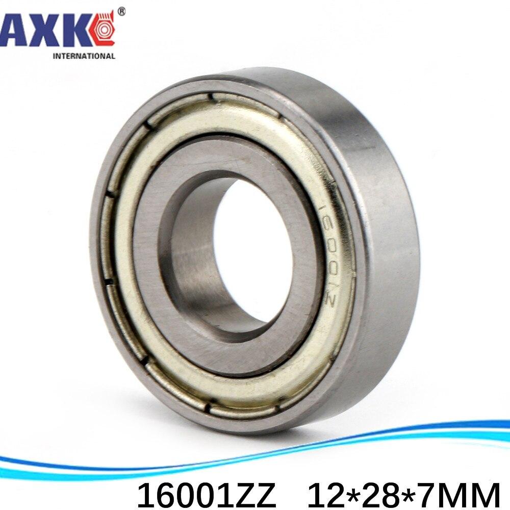 2 pcs 16001-2Z Deep Groove Ball Bearing 12x28x7 12*28*7 mm bearings 16001ZZ ZZ