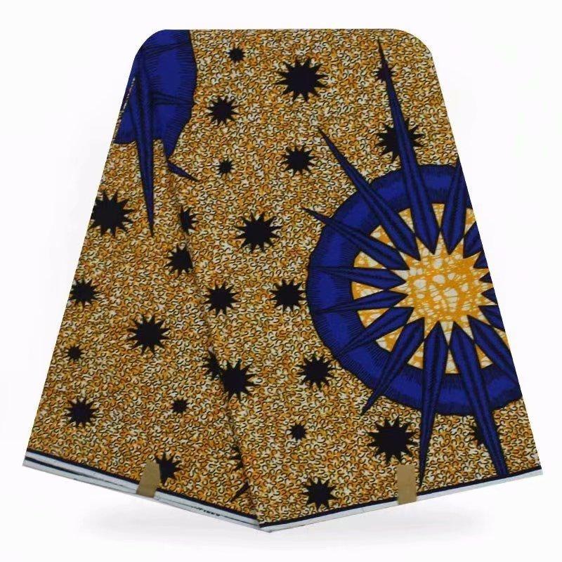 African Wax Fabric Nigerian Real Wax Fabric For Women Ankara 100% Cotton Prints Super Wax Fabrics Pange 6yards Wax High Quality