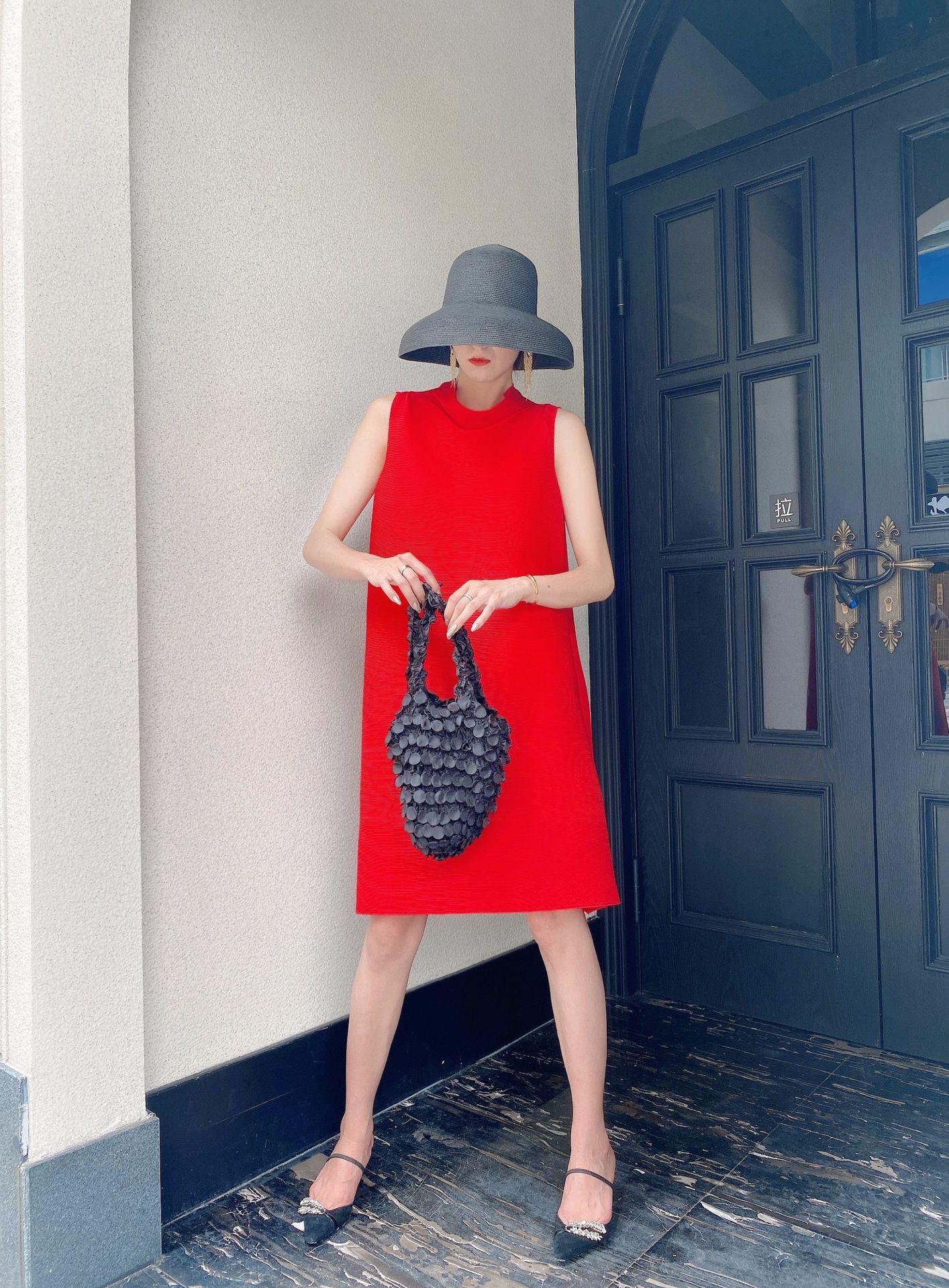 Em estoque miyake fold marca moda senhoras