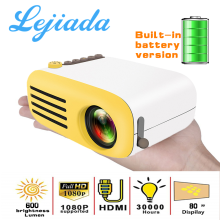 Lejiada yg200 led built-in bateria versão hdmi usb mini projetor media suporte 1080p hd player de vídeo