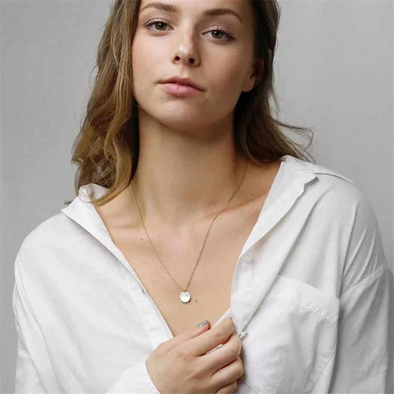 DIY Tiny złoty początkowy naszyjnik list naszyjnik inicjały nazwa naszyjniki wisiorek dla kobiet biżuteria dziewczęca najlepszy prezent urodzinowy