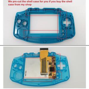Image 5 - V2 IPS شاشة LCD أطقم ل GBA الخلفية شاشة LCD 10 مستويات السطوع LCD V2 شاشة ل GBA وحدة التحكم و قبل قطع قذيفة