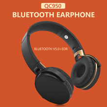 ALLOYSEED QC950 Foldable Bluetooth V5.0+EDR Bluetooth Headphones On Ear Wireless Wired Stereo Headset with Microphone
