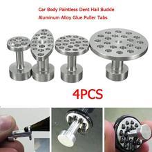 4pcs Car Body Paintless Dent Hail Buckle Aluminum Alloy Glue Puller Tabs Remover Automobile Repairin