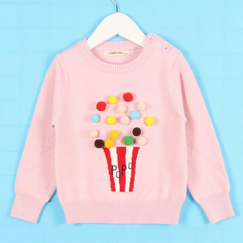 1-6Yrs New 2020 Boy Girl Long Sleeve Loving Heart Knitted Sweater Autumn Winter Boys Girls Sweaters For Baby Girls Kids Sweater 7