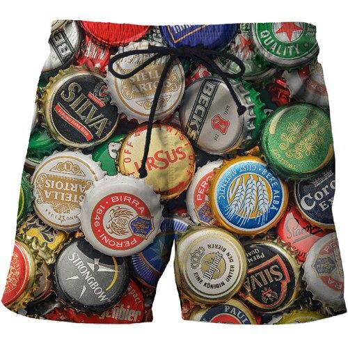 2019 New Shorts Men 3d Beer Cap Quick Dry Summer Mens Siwmwear Men Beach Board Shorts Briefs Women Swim Trunks Surf Shorts