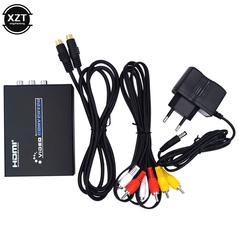 <font><b>HDMI</b></font> zu AV S-Video CVBS Video Converter HD 3RCA PAL/NTSC Schalter <font><b>HDMI</b></font> zu SVIDEO + S VIDEO Switcher Adapter für <font><b>TV</b></font> PC Neueste image