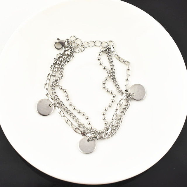 BTS Jimin Multilayer Bracelet Metal  4