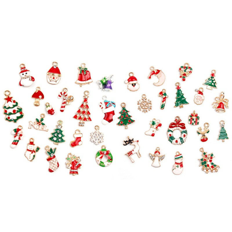 X ROYAL 19Pcs lot Mixed Styles Christmas Hangings Jewelry DIY Making Findings Earring Bracelets Charms Christmas Tree Decoration in Jewelry Findings Components from Jewelry Accessories