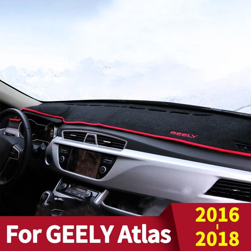 Car Dashboard Avoid Light Pad Instrument Platform Desk Cover Mats Carpets for GEELY Atlas Accessories
