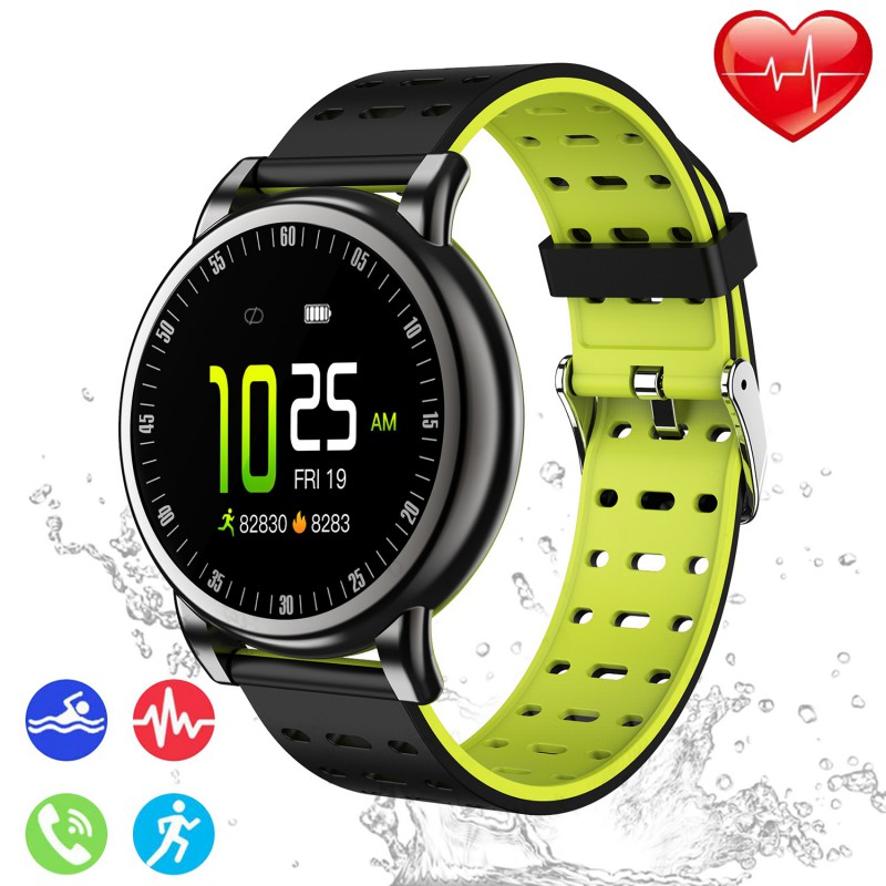IP68 Waterproof Smart <font><b>Watch</b></font> Fitness Tracker <font><b>Watches</b></font> Health Exercise Heart Rate Men ECG Heart Rate <font><b>Blood</b></font> <font><b>Pressure</b></font> Monitor image