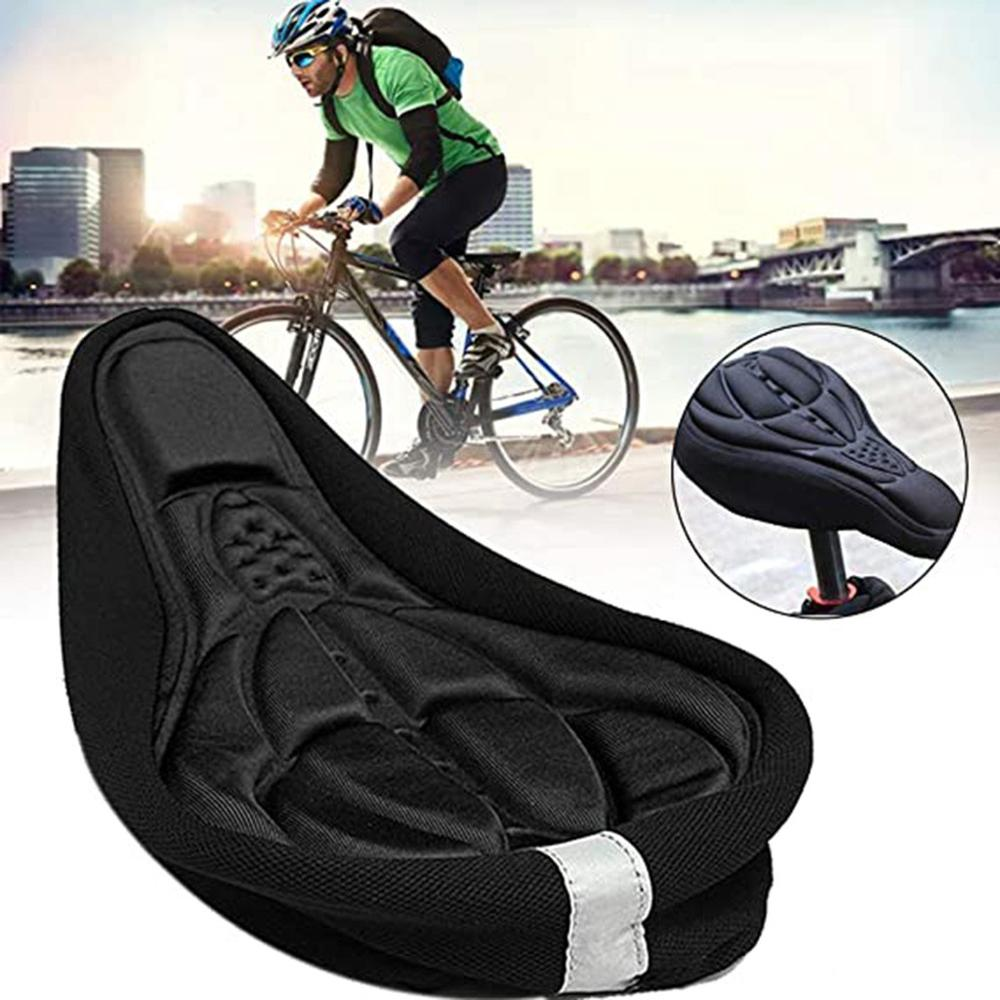 3D MTB Mountain Bike Silicone Gel Bicycle Cycling Saddle Seat Cover Cushion Pad