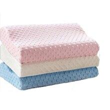 Подушка с эффектом памяти, массажер, Ортопедическая подушка, латексная подушка для шеи, для волокна, медленный отскок шейки, забота о здоровье, подушка с эффектом памяти
