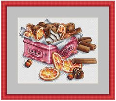 Top SELLING Lemon Cookie Tin cross stitch kit people design cotton thread 14ct linen flaxen canvas embroidery(China)