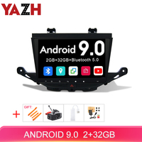 YAZH For Buick Verano GS / Vauxhall OPEL ASTRA K 2012 2015 Car Unit Multimedia With 9.0 IPS HD Radio/Mirror Link/Bluetooth 5.0